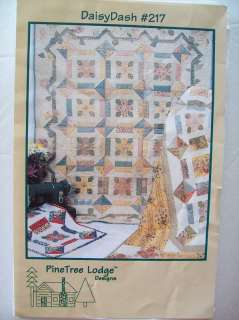 Pine Tree Lodge Daisy Dash #217 Queen Quilt Pattern