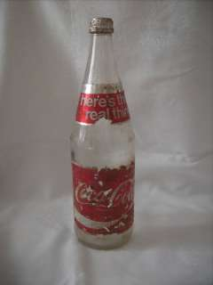 Vintage Coca Cola Bottle Foil Label w/ Cap 28 Oz. Real