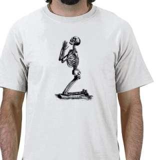 skeleton praying t shirt by jokulhlaup