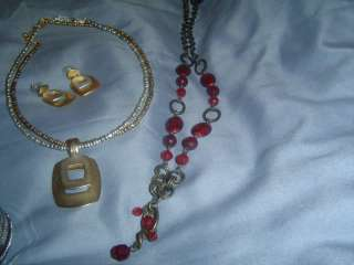 PREMIER DESIGNS JEWELRY MIXED LOT CUFF WATCH NECKLACE EARRINGS