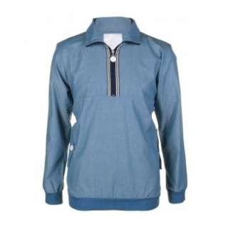 Shirts Long Sleeve Shirts Mens Danny Check Blue Chambray Shirt