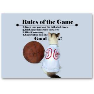 Check out a cats rules for basketball in this fun photo featuring our