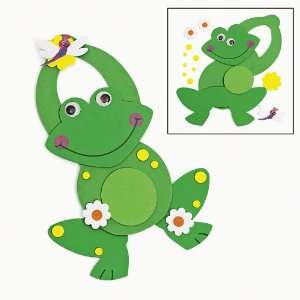 com Foam Frog Shaped Doorknob Hanger Craft Kits (1 dz) Toys & Games