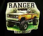 Mud Truck T shirt 4x4 bogger lifted mudder SMALL Ford offroad Ranger
