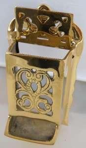 Brass Wall Mounted Match Holder Fireplace Accessories Wood Stove Match