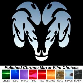 Dodge Ram Tribal 14 Chrome Auto Window Stickers Decals
