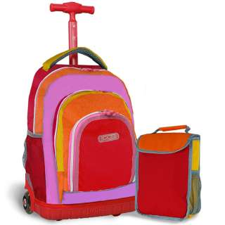 World Lollipop Kids Rolling Backpack w/Lunch Bag