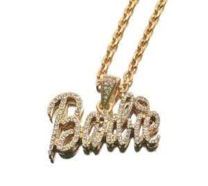 Nicki Minaj Iced Out BARBIE w/Pink Lip Pendant Necklace