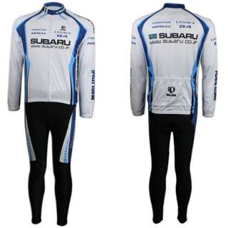 Cycling Bike Sports Wear Bicycle Long Sleeve Clothing Set White Jersey