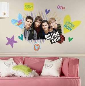 New BIG TIME RUSH WALL STICKERS   BTR Fan Large Room Decals Bedroom