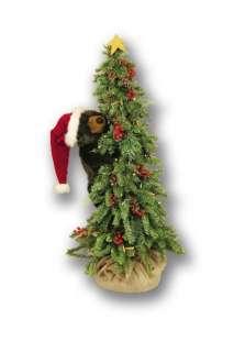 40 Ditz Pre Lit Christmas Tree Black Bear Berries
