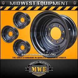 10x16.5 Titan Skid Steer Rims / Wheels Black 8 Lug