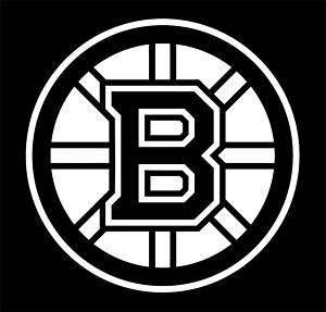 Boston Bruins Vinyl Car Window Sticker / Decal (white)