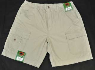 NEW Boston Traders Mens Casual Cargo Walking Shorts Khaki Size XL