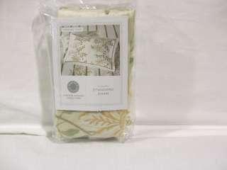 MARTHA STEWART   Veranda Vines Ivory Standard Pillowsham