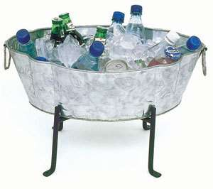 Achla Galvanized Steel Tub / Ice Bucket Cooler