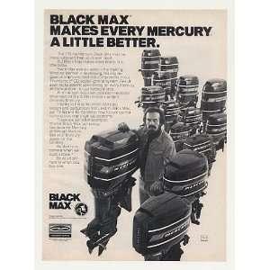 1977 Mercury Black Max Outboard Boat Motors Print Ad