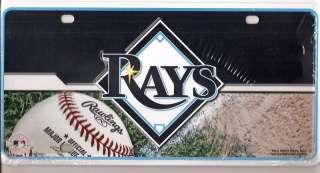 New MLB Tampa Bay Rays Logo Metal Car Tag License Plate