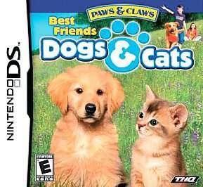 Paws Claws Best Friends   Dogs Cats Nintendo DS, 2007 785138361444