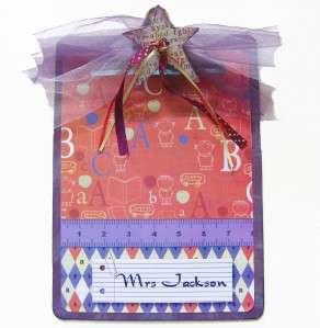 Teacher Gift Alphabet Personalized Clipboard Purple