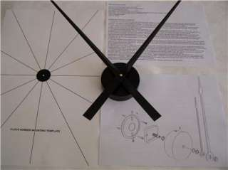 Large 36 Wall Clock Kit with 17.5 Hands, High Torque Motor & Mount