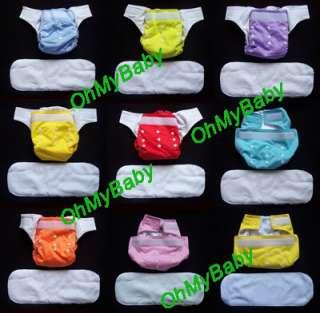 100 cloth Diapers cover insert velcro organic prefold
