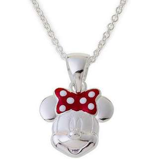 Disney Minnie Mouse Sterling Silver Pendant, 18 Pendants & Necklaces