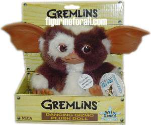 GREMLINS DANCING GIZMO PLUSH 8 HAPPY FACE Neca gremlin