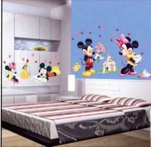 Disney Mickey Minnie Mouse & Friends Wall Stickers Kids/Childrens Room