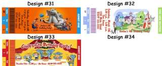 Dr Seuss Grinch Cat in the Hat Birthday Party Ticket Invitations