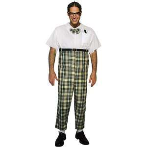 Halloween Dress Up Mens Adult Nerd Costume One Size