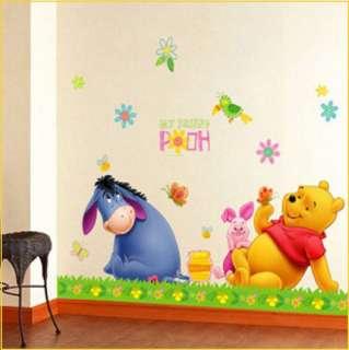 POOH & EEYORE Decor Mural Art Wall Sticker Decals DS74