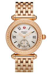 MICHELE Caber Diamond & Rose Gold Customizable Watch Items priced $