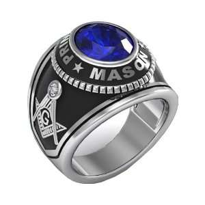 FREEMASON BLUE MONTANA MASON MASONIC PRINCE HALL MEN CZ RING S 11 [NEW