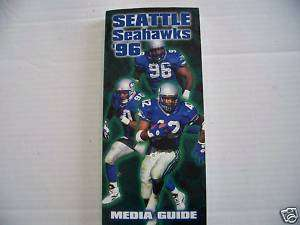 1996 NFL Seattle Seahawks Football Media Guide