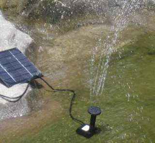 Solar Powered Fountain Pond Water Pump Panel Brushless*