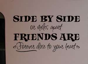 Friends Are Forever Vinyl Wall Art Decal Lettering