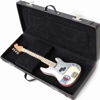 Miniature Guitar Steve Harris Iron Maiden Bass + Case
