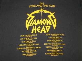 1982 DIAMOND HEAD VTG CONCERT T SHIRT metallica slayer