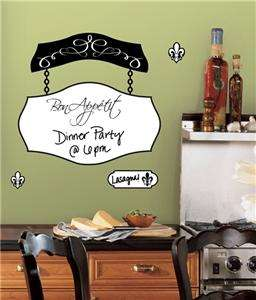 BON APPETIT DRY ERASE BOARD WALL DECALS Kitchen Stickers Decorations