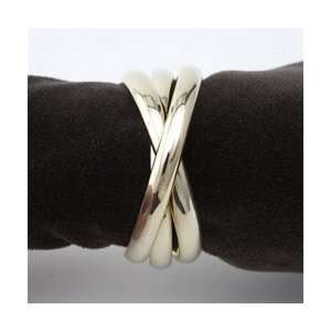 Objet Three Gold Plated Napkin Rings Set of 4  Kitchen