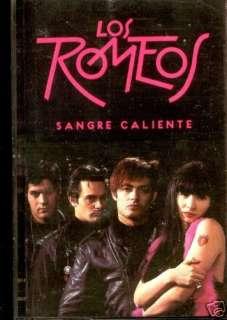 CAS   LOS ROMEOS   SANGRE CALIENTE (LATIN SPANISH SYNTH POP) NUEVO