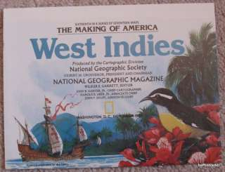 National Geographic Map West Indies November 1987