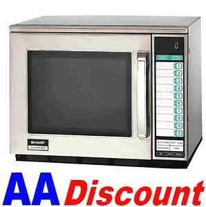 NEW SHARP HEAVY DUTY COMMERCIAL MICROWAVE OVEN R22GTF STAINLESS STEEL