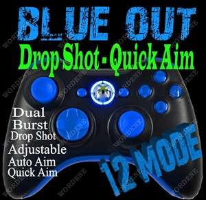 12 Mode RAPID FIRE Modded Xbox 360 Controller Drop Shot OPS Blue LEDs