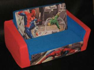 Spiderman FOLD OUT COUCH SOFA BED PLUSH Large Childs Kids Chair