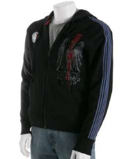 Blue Marlin black cotton Italia zip hoodie