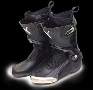 Puma 1000 V2 Black/Silver Motorcycle Boot Bike Footwear Brand New