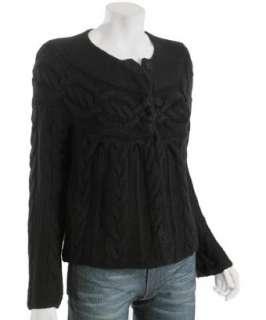 Design History black cable knit cashmere cardigan