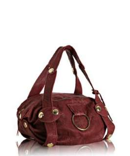 Gustto red leather Baca bag